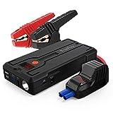 TrekPow G39 1200A Arrancador de Coches, Jump Starter 12V (hasta 5.5L Diésel o 6.5L Gasolina) con Medidor LED, Puerto USB QC 3.0 y Tipo C, LED Linterna, Pinzas Inteligentes