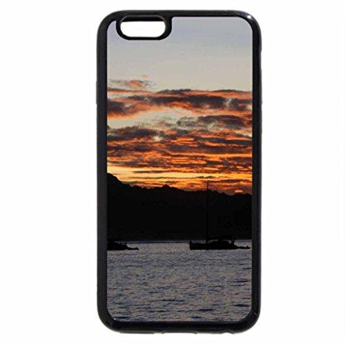 iPhone 3S/iPhone 6Coque (Noir) coucher de soleil sur la rivière
