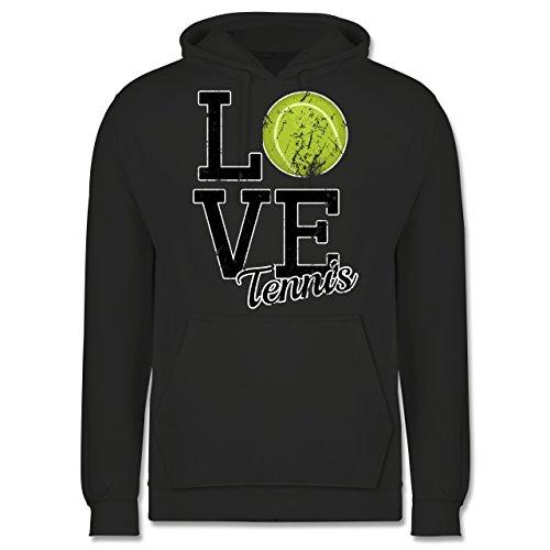 Tennis - Love Tennis - Männer Premium Kapuzenpullover / Hoodie Dunkelgrau