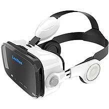 Leelbox VR Occhiali VR con Cuffie 3D per Realtà Virtuale con Auricolari Vr Glasess Compatibile (accessori del video gioco)