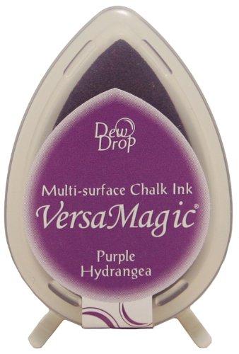 Versamagic Dew Drop Ink Pads Tsukineko, Tautropfen-Stempelkissen –Lila Hortensie (Voller Hortensie In Größe)