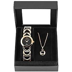 Montine Ladies Bracelet Watch Diamond Set with Pendant Necklace MOX5366L47