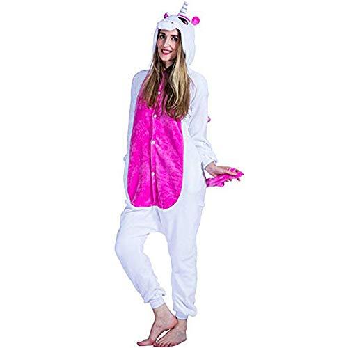 Pyjamas Kinder Erwachsene Einhorn Einteiler Tieranzüge für