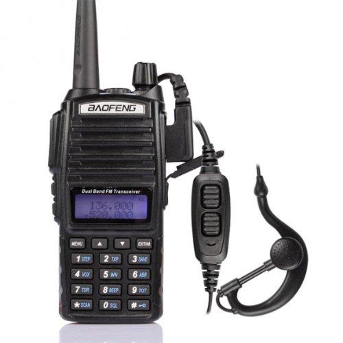 Baofeng UV-82L Radio de Dos Vías de Caza, Unisex Adulto, Negro, Talla Única