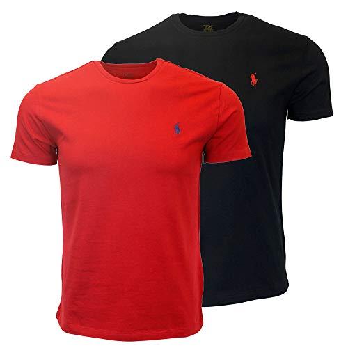 LargeNerorosso Girocollo Modello Uomo 2019xx Ralph Shirt Da Polo Lauren T tsrdhxBQoC