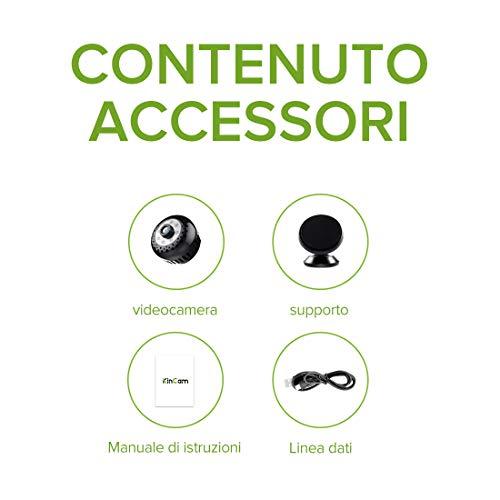 Mini Microcamere Spia,Kincam HD1080P Spia Videocamera nascosta Microcamera Videocamera Interno telecamera di sorveglianza con Visione notturna/Rilevamento del movimento di Interno Per Iphone Android - 7