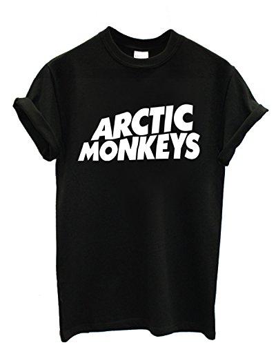 T-shirt Uomo Arctic Monkeys - Maglietta 100% cotone LaMAGLIERIA, S, Nero