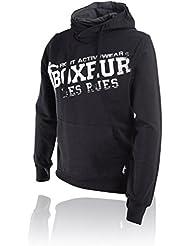 BOXEUR DES RUES Serie Fight Activewear, Felpa Uomo, Nero, M