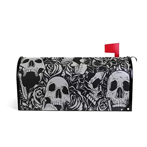 ALARGE Magnetischer Briefkasten-Abdeckung, Mexiko-Zuckerschädel, Blumen-Design, Briefkasten-Abdeckung (In Halloween Mexiko)