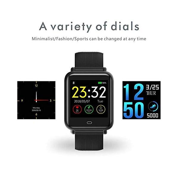 Wysgvazgv Pulsera de Actividad Inteligente, Fitness Tracker con Monitor de Sueño Frecuencia Cardíaca Ritmo Cardíaco… 2