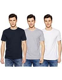 XESSENTIA Men's Pack of Three Crew Neck Tees