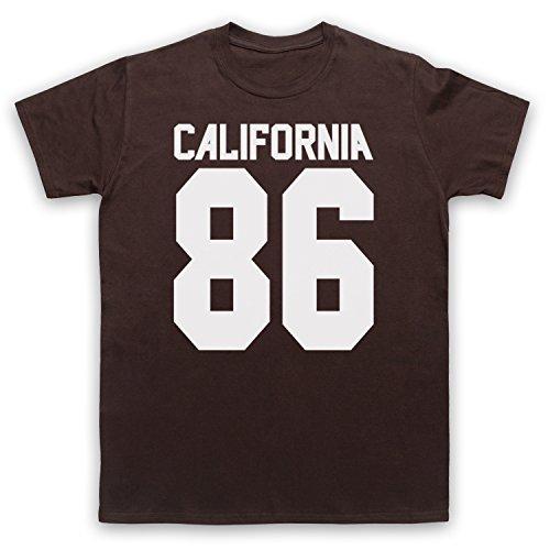 Inspiriert durch California 86 As Worn By Damon Albarn Unofficial Herren T-Shirt Braun