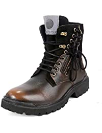 Bacca Bucci® Men s Earthkeepers Rugged Light Weight Bikers Combat High top  Genuine 23b02807a59