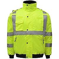 RAINCOAT Fahrradanzug- Reflektierender Baumwollmantel, 3M Reflektierender Streifen Verkehrsstraße Winter Winter Cold Suit Baumwolljacke -Regenmantel (größe : L)