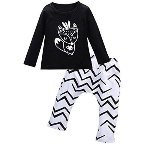 Vovotrade Muchachas de los bebés de ropa camisas + Pantalones