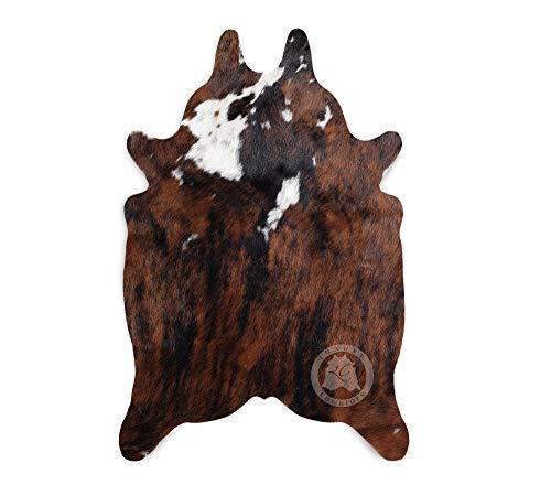 Mini-Teppich aus Kuhfell, Farbe: Tricolor - Größe 90 x 60 cm, Premium - Qualität von Pieles del Sol aus Spanien