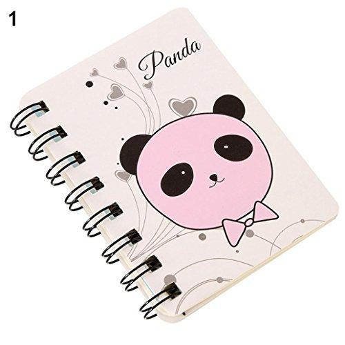 erkauf! 80 Blätter Mini niedliche Tier Spirale Notebook Cartoon-Spule-Buch für Tagebuch-Schul Büro liefert-11 schöne Arten ()