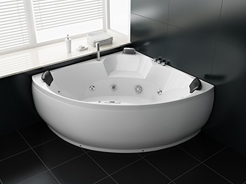 Trade-Line-Partner Luxus Whirlpool Badewanne 150×150 + Vollausstattung ! (MASSAGE) – SONDERAKTION !