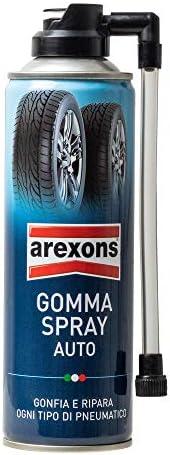 Arexons 8473 Gomma Spray Sigilla Forature e Rigonfia Pneumatici, 300 ml