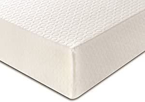 DuraTribe Golden Sleep 15 cm Deep Orthopaedic Memory Foam Mattress with Washable Zip-off Cover - FIRA Tested to BS 7177 British Safety Standards