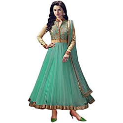 Anarkali Suit for Women Clothing Designer Party Wear Today Offer Low Price Sale Top Turquoise Color Banglori Silk Fabric Free Size Salwar Kameez Dress