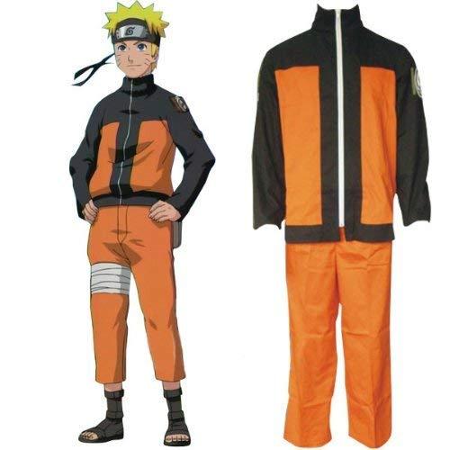 Lackingone Naruto Shippuden Naruto Cosplay Kostüm Mantel und Hose (M) (Naruto Uzumaki Cosplay Kostüm)