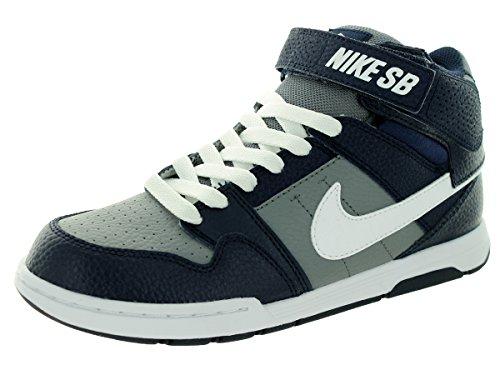 Nike Mogan Mid 2 Jr B, Baskets Hautes Garçon Cool Grey/White/Obsidian