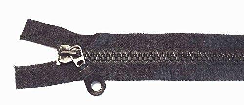 Reißverschluß Kunststoff teilbar für Jacken 75 cm schwarz