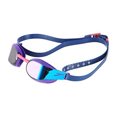 Speedo Fastskin Elite Mirror Goggles, Violet/Blue, One Size