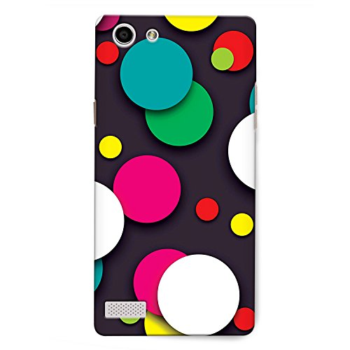 CrazyInk Premium 3D Back Cover for Oppo Neo 7 – COLORFUL BUBBLE