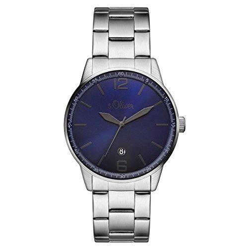 s.Oliver Herren-Armbanduhr Analog Quarz SO-15160-MQR