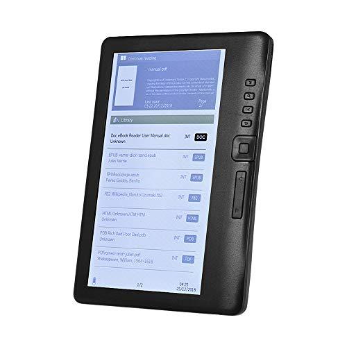 Aibecy Lettore di e-book portatile da 7 pollici E-reader Schermo a colori Schermo antiriflesso Memoria integrata Retroilluminazione Supporto Riproduzione di musica/Visione di video