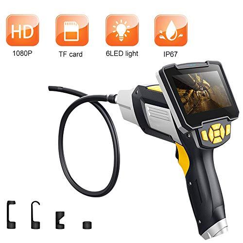 Macchina fotografica industriale di ispezione dell'endoscopio, videoscopio portatile del periscopio tenuto in mano, IP67 schermo semi-rigido impermeabile della macchina fotografica del tubo,32.8FT