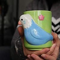 njhswlti Caja de Color cerámica pequeño martín Pescador Tridimensional Taza Linda/Taza Matcha/Taza