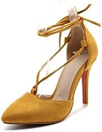 801049e3 QPYC Ms Zapatos de novia Novia Zapatos de tacón alto Zapatos de tobillo  Código pequeño Calzado