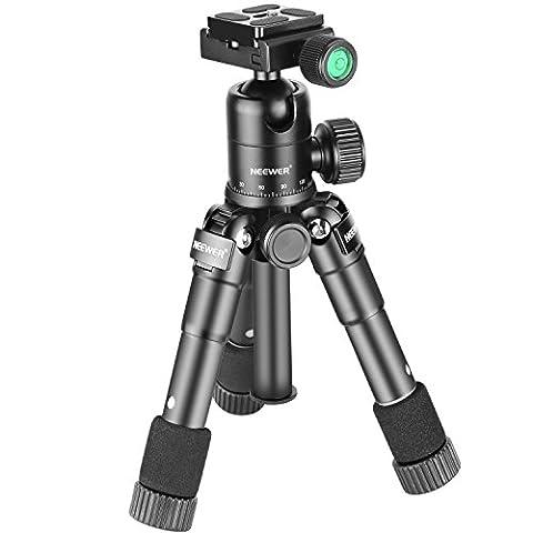 Neewer 20 Zoll / 50 Zentimeter bewegliche kompakte Tisch Macro Mini Stativ mit 360 Grad Kugelkopf, 1/4 Zoll Schnellwechselplatte, Tasche für DSLR-Kamera, Video-Camcorder, bis zu 11 Pfund / 5