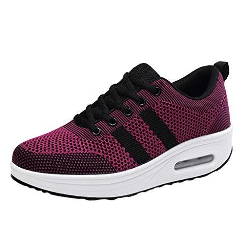 Frauen Plattform Schuhe schütteln,Mesh Freizeitschuhe Damen Sneakers-Luftkissen Schuhe-Haferlschuhe-Running-Freizeit-Jogging URIBAKY