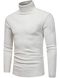 enorme sconto 76ba3 88740 Amazon.it: Maglia collo alto - Bianco / Uomo: Abbigliamento