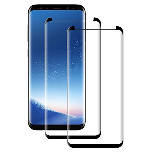 POOPHUNS Panzerglas Schutzfolie kompatibel mit Samsung Galaxy S8 Plus, Gehärtetes Glas Displayschutzfolie mit 9H Härte, HD Ultra Klar, Anti-Kratzen, Anti-Öl, Displayschutz Folie für S8 Plus(2 Stück)