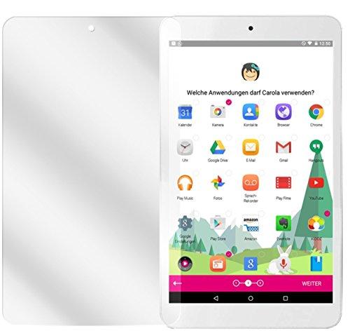 dipos I 2X Schutzfolie klar passend für Telekom Tablet Puls Folie Displayschutzfolie