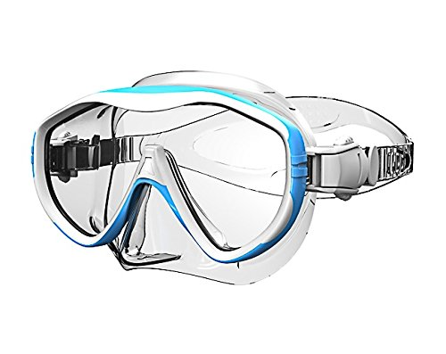 Einglas Tauchermaske Taucherbrille Silikon Rahmenlos -