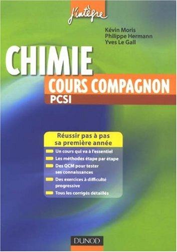 Chimie cours compagnon PCSI