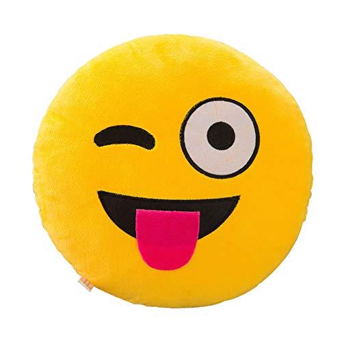 TWIFER Soft Expression Smiley Emoticon Kissenbezug Plüschtier Puppe Kissenhüllen Abdeckung (H,32cm) -