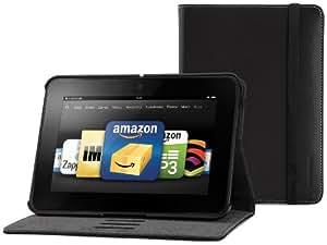 Marware Eco-Vue Echtleder-Hülle für Kindle Fire HD (2. Generation - 2012 Modell), Schwarz