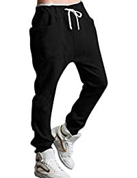 Minetom Casual Sports Männer Hosen Tanzen Hosen Harem Mens Casual Sport  Jogging Harem Baggy Schwarz Hose Cool Grey Cotton Bequem… 3073116752