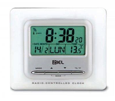 Wetterstationen Ziel Polaris 40 Weiß White - Thermometer Funkuhr