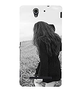 EPICCASE Long Hair Girl Mobile Back Case Cover For Sony Xperia C3 (Designer Case)