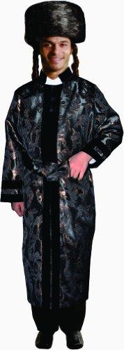 Dress Up America Erwachsener schwarzer Rabbi - Rabbi Hut Kostüm