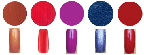 Gel Polish Touch Lot de 5 vernis à ongles professionnels en gel UV