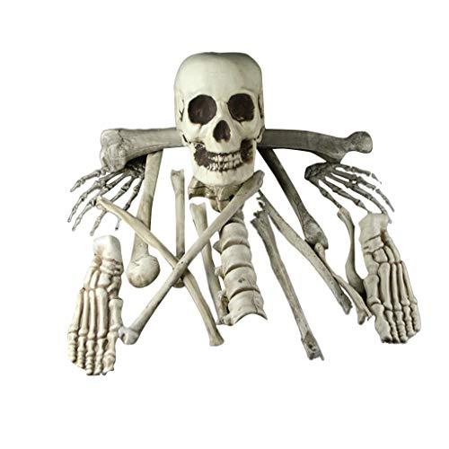 Skelett Kostüm Anatomisches - QinMM W Halloween Outdoor Deko Horror Hexe,Halloween-Stützen-Partei-Dekorations-menschliches Schädel-Skelett anatomisch